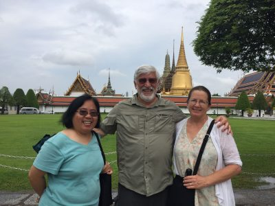 Outside the Grand Palace in Bangkok